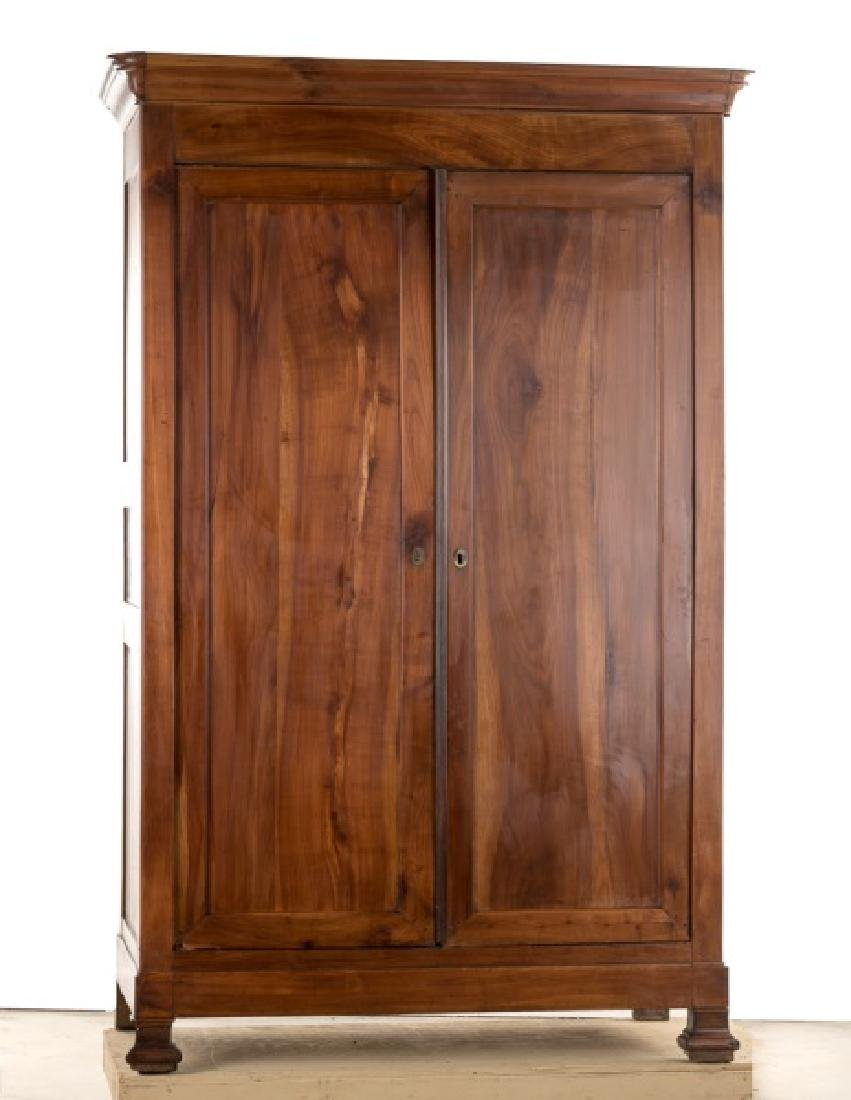 Early 20th C. Louis Philippe Style Cherry Armoire