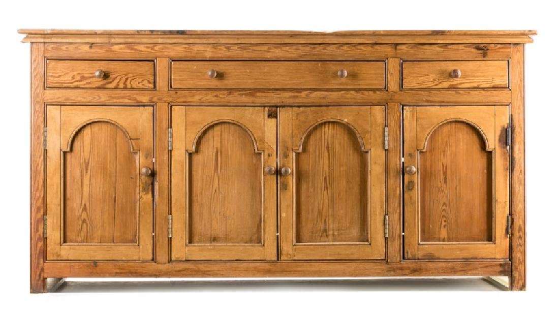 English or Irish Provincial Pine Sideboard