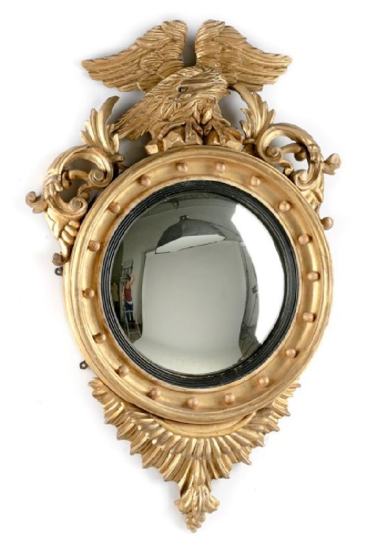 19th C. Federal Style Gilt Bullseye Mirror