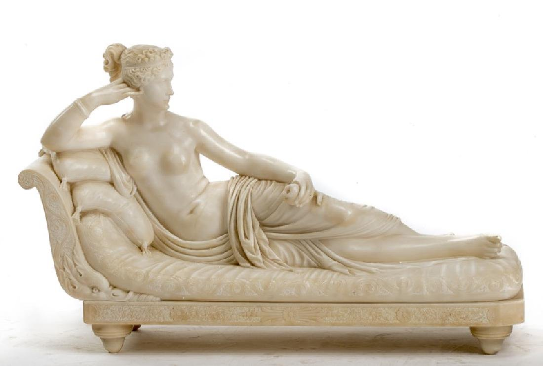 Alabaster Statue, Pauline Bonaparte Borghese