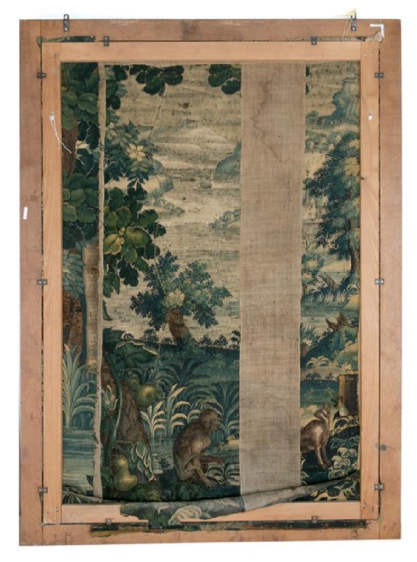 Large 18th C. Framed Verdure Tapestry - 2