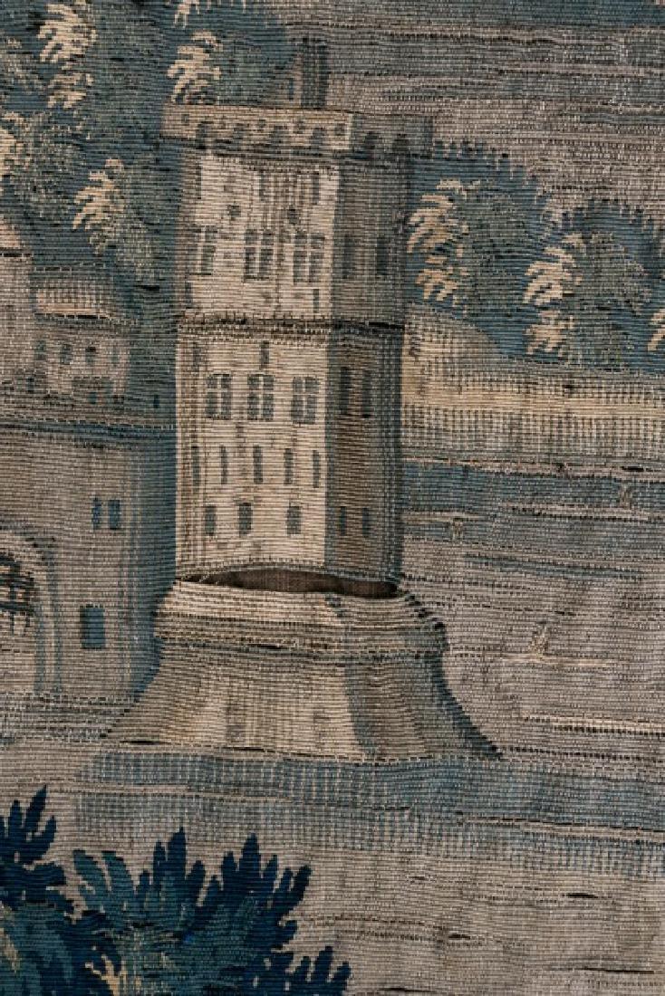 Large 18th C. Framed Verdure Tapestry - 3