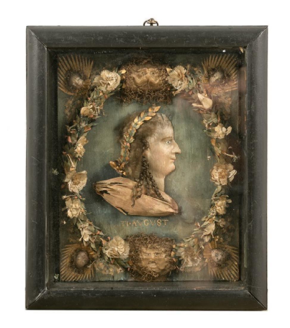 18th Century Stumpwork Portrait of Caesar Augustus