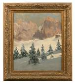 """Tony Haller O/C """"Dolomite Mountains In Winter"""""""