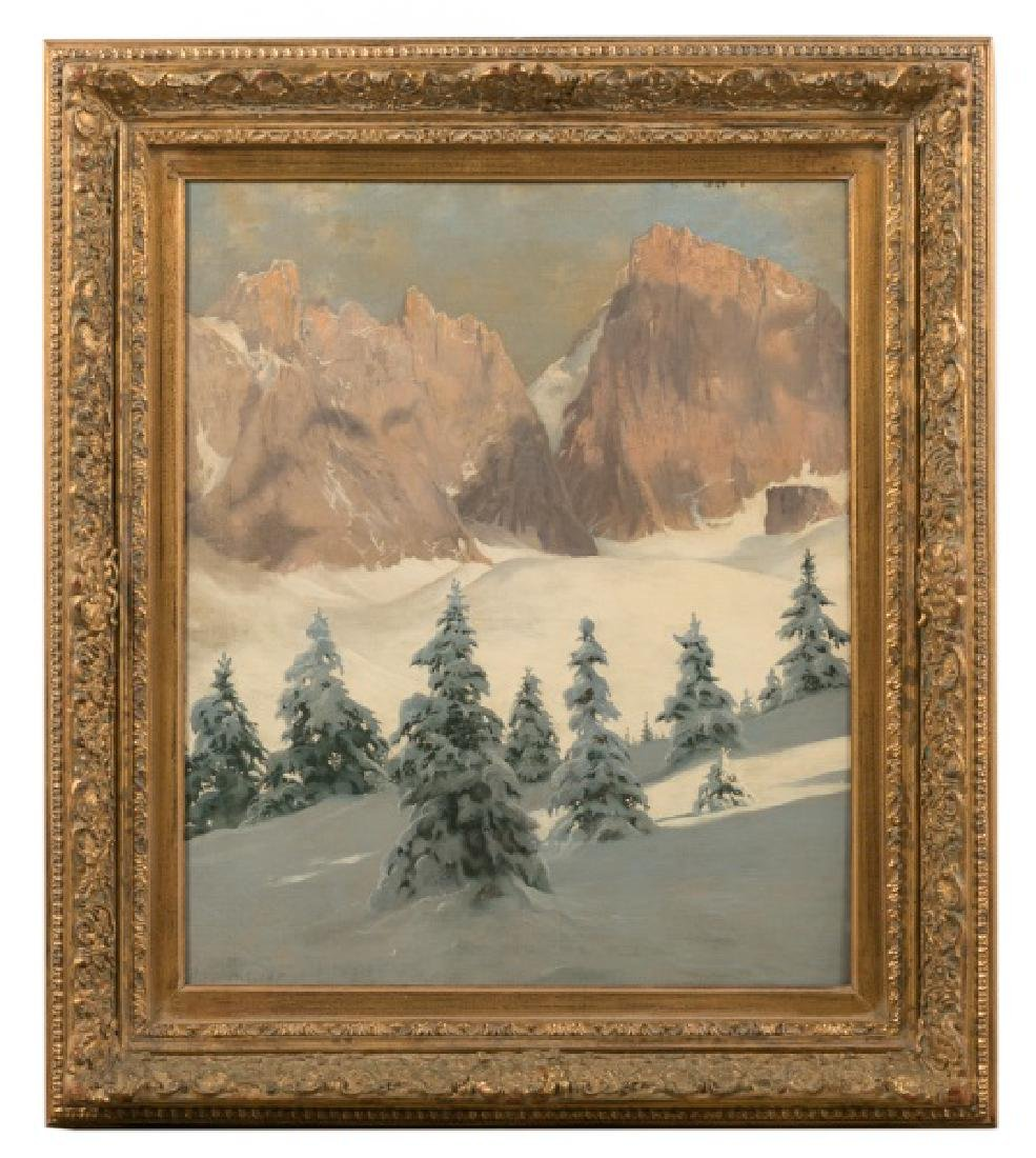 "Tony Haller O/C ""Dolomite Mountains In Winter"""
