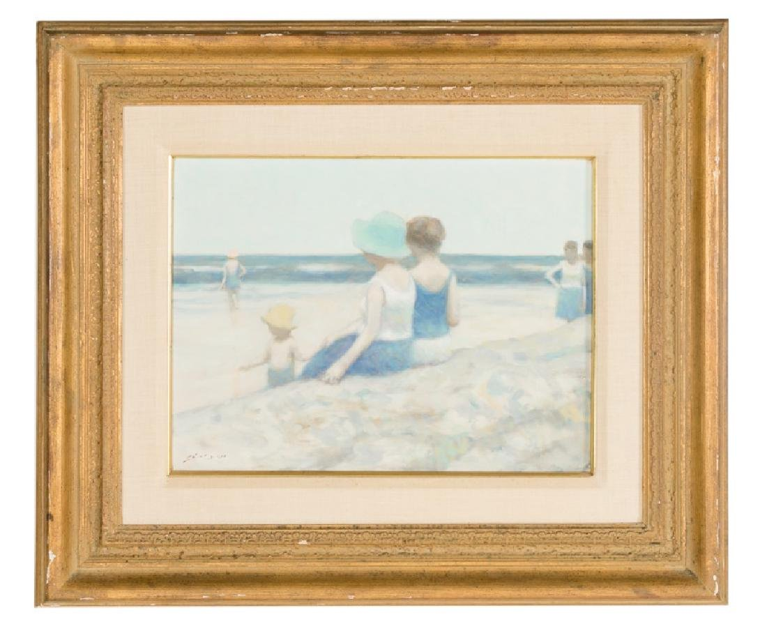 "Andre Gisson ""Beach at Deauville"" O/C with Receipt"
