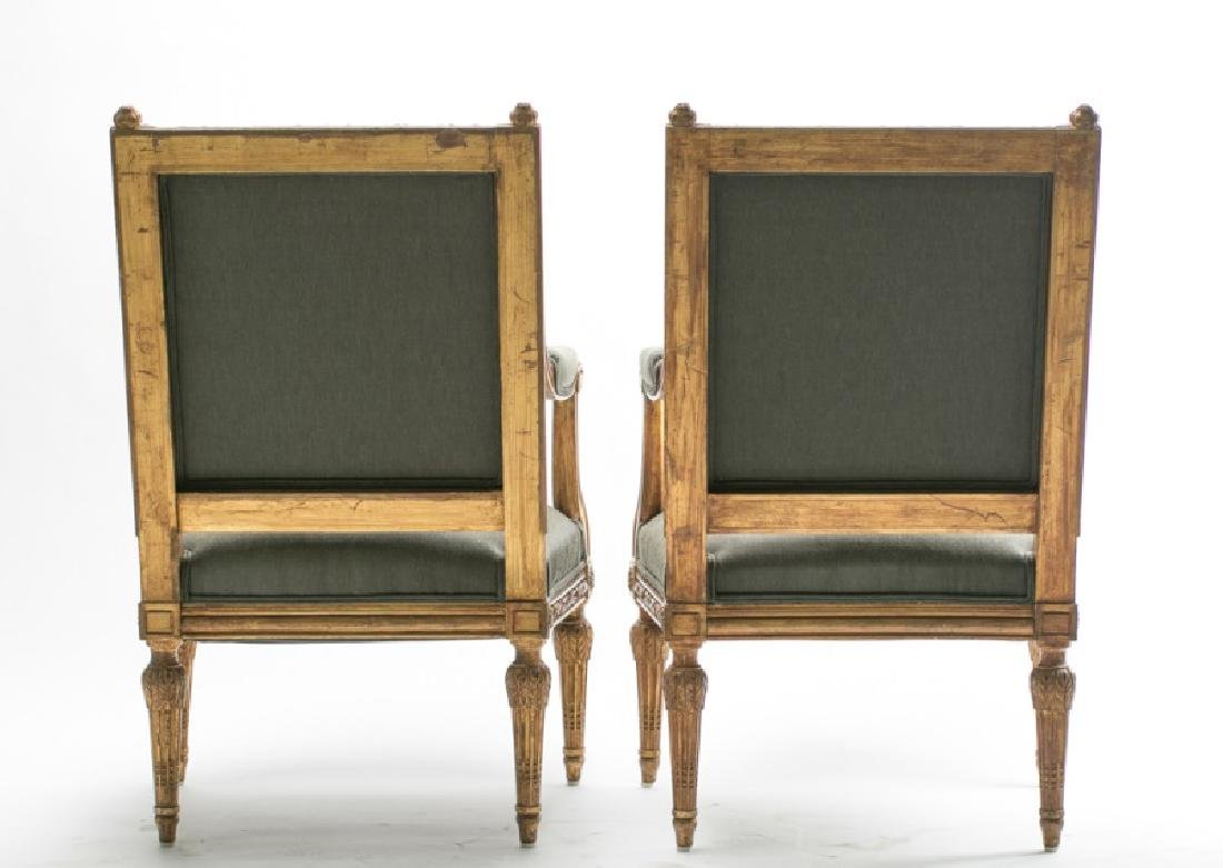 Pair, 19th C. Louis XVI Style Petit Point Chairs - 8