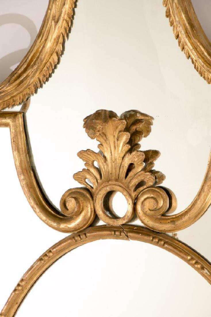 19th C. French Giltwood Ornate Carved Mirror - 2