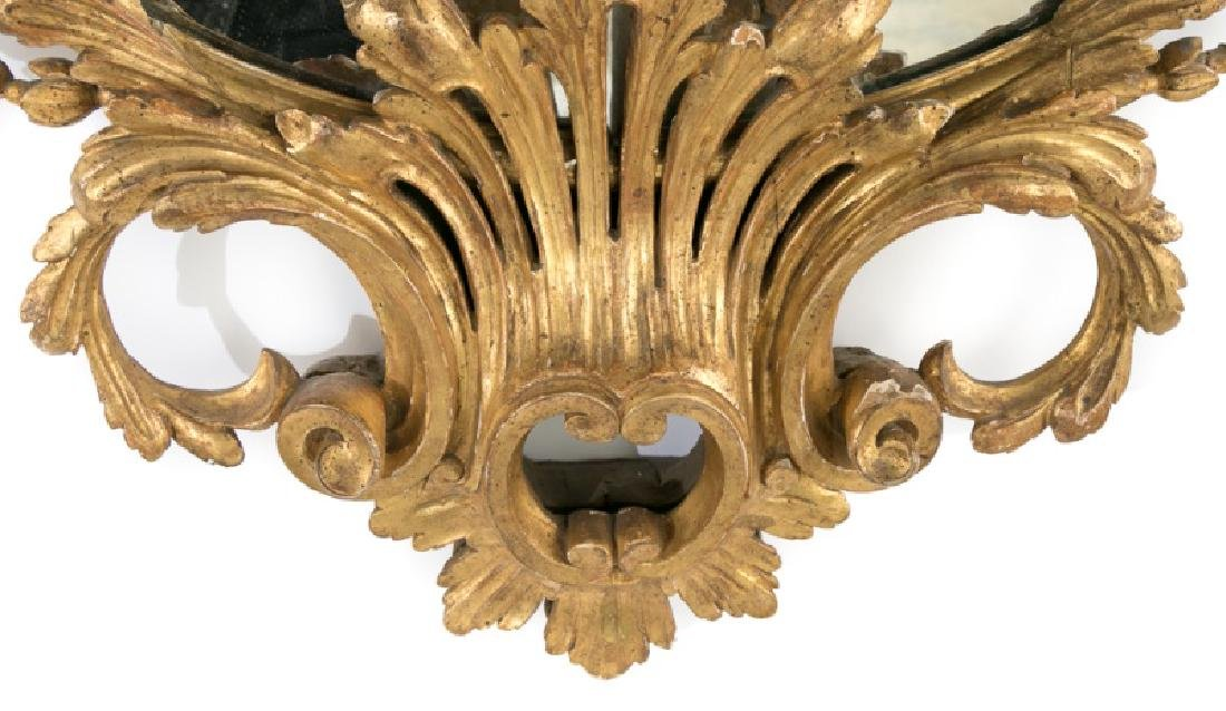 19th C. French Giltwood Ornate Carved Mirror - 5