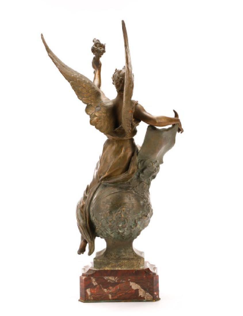 "Marcel Debut, ""La Science"" Bronze on Marble"