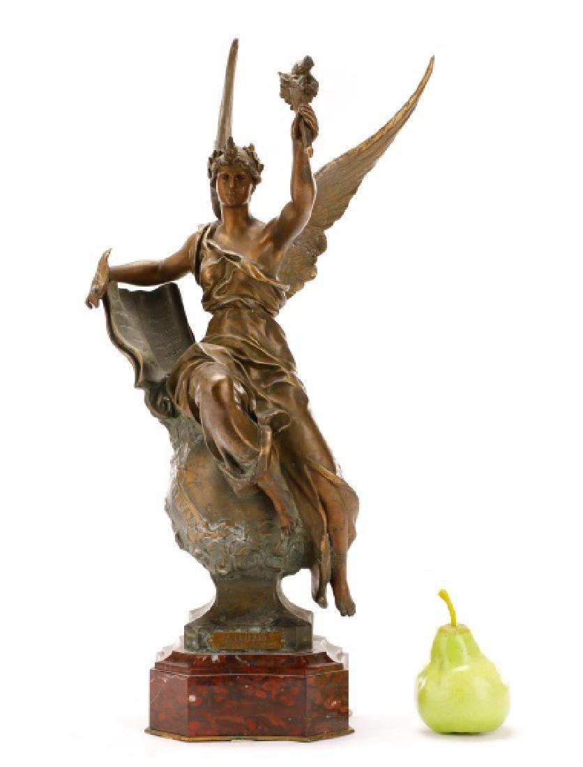 "Marcel Debut, ""La Science"" Bronze on Marble - 2"