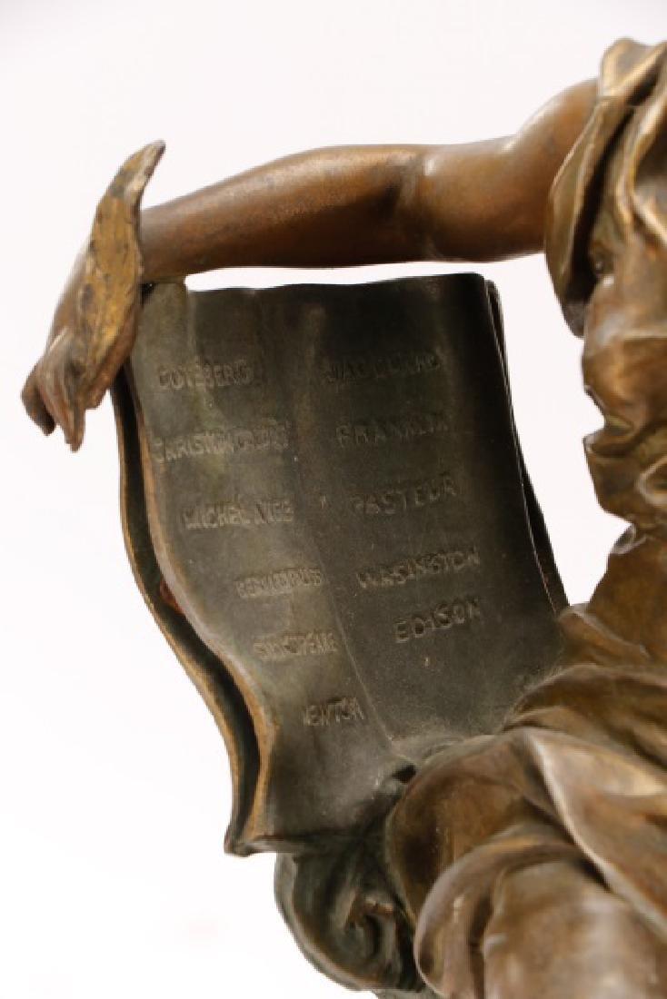 "Marcel Debut, ""La Science"" Bronze on Marble - 6"