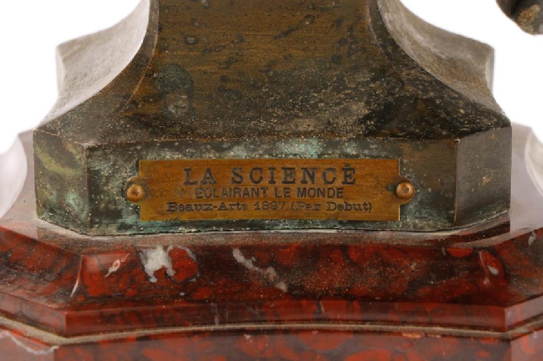 "Marcel Debut, ""La Science"" Bronze on Marble - 7"