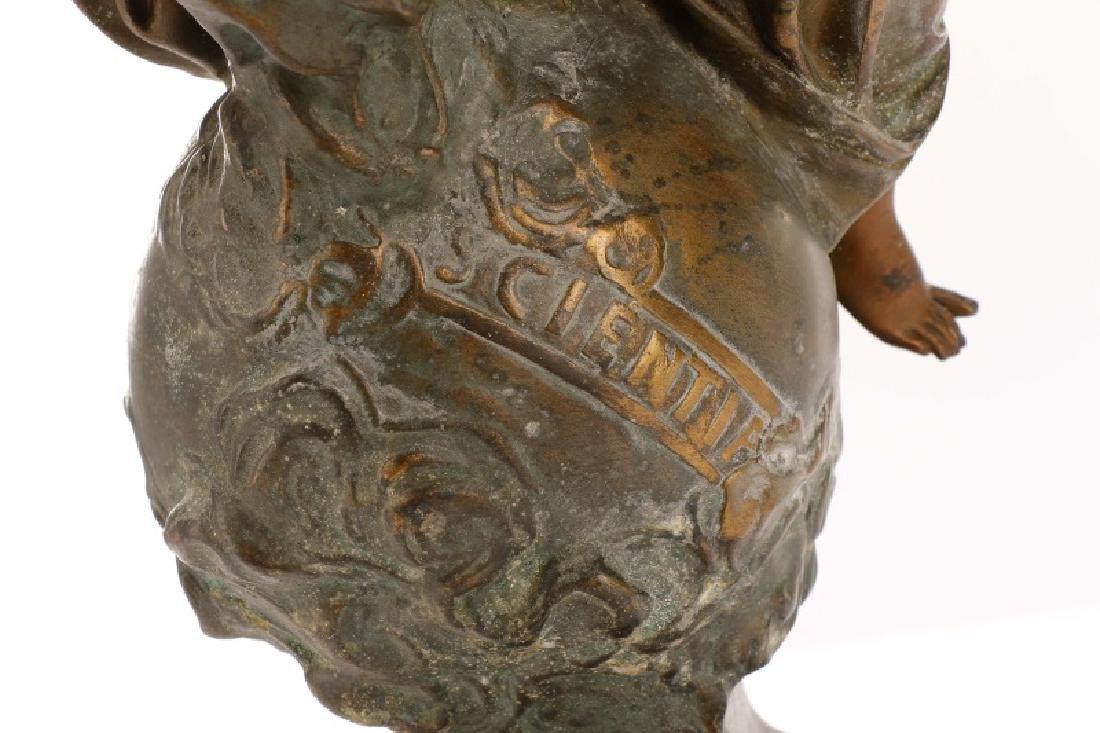 "Marcel Debut, ""La Science"" Bronze on Marble - 9"