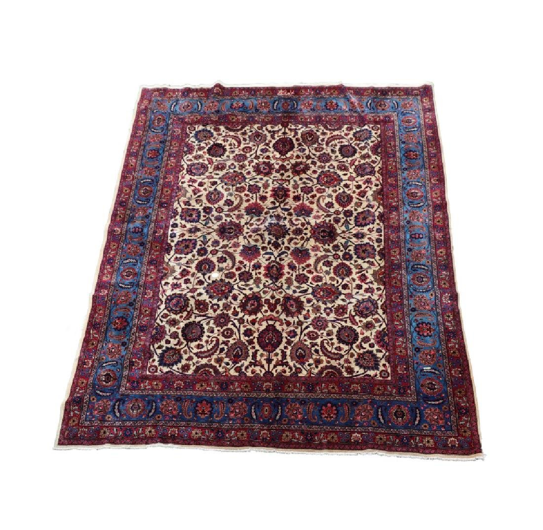 Hand Woven Persian Mashad Rug 10' x 13'