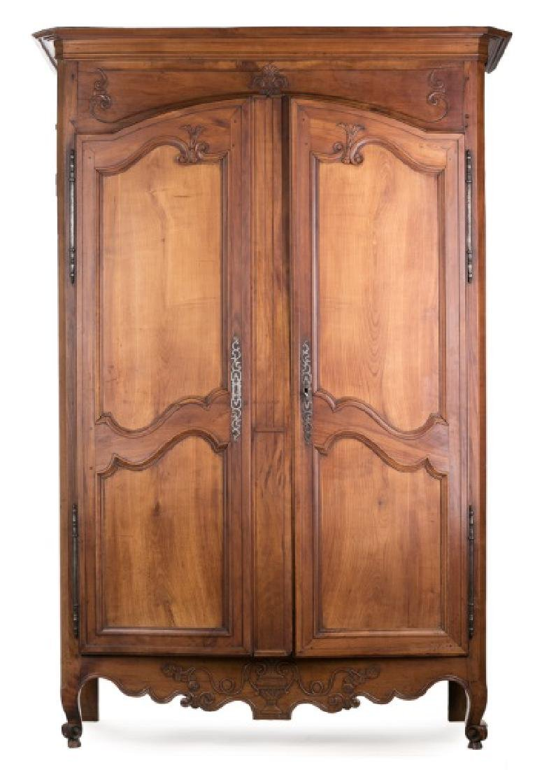 Early 19th C. French Cherry Wood Armoire