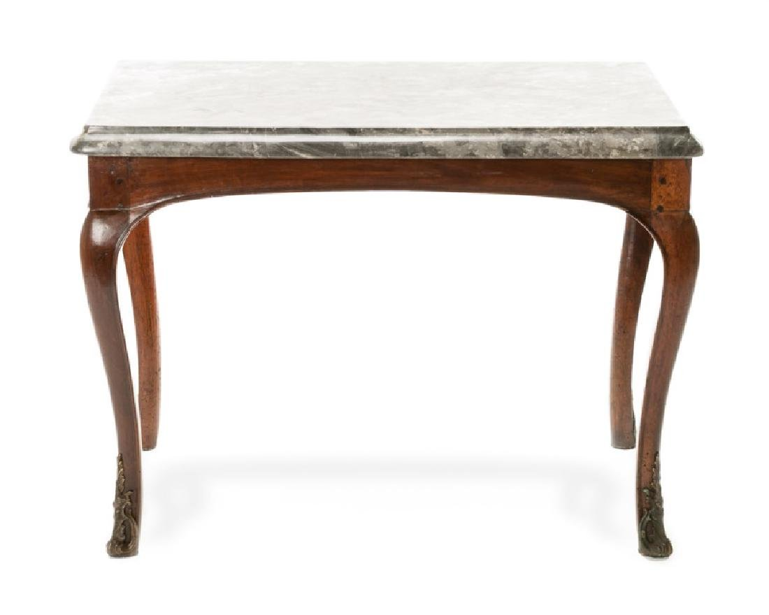 French Louis XV Period Walnut Salon Table