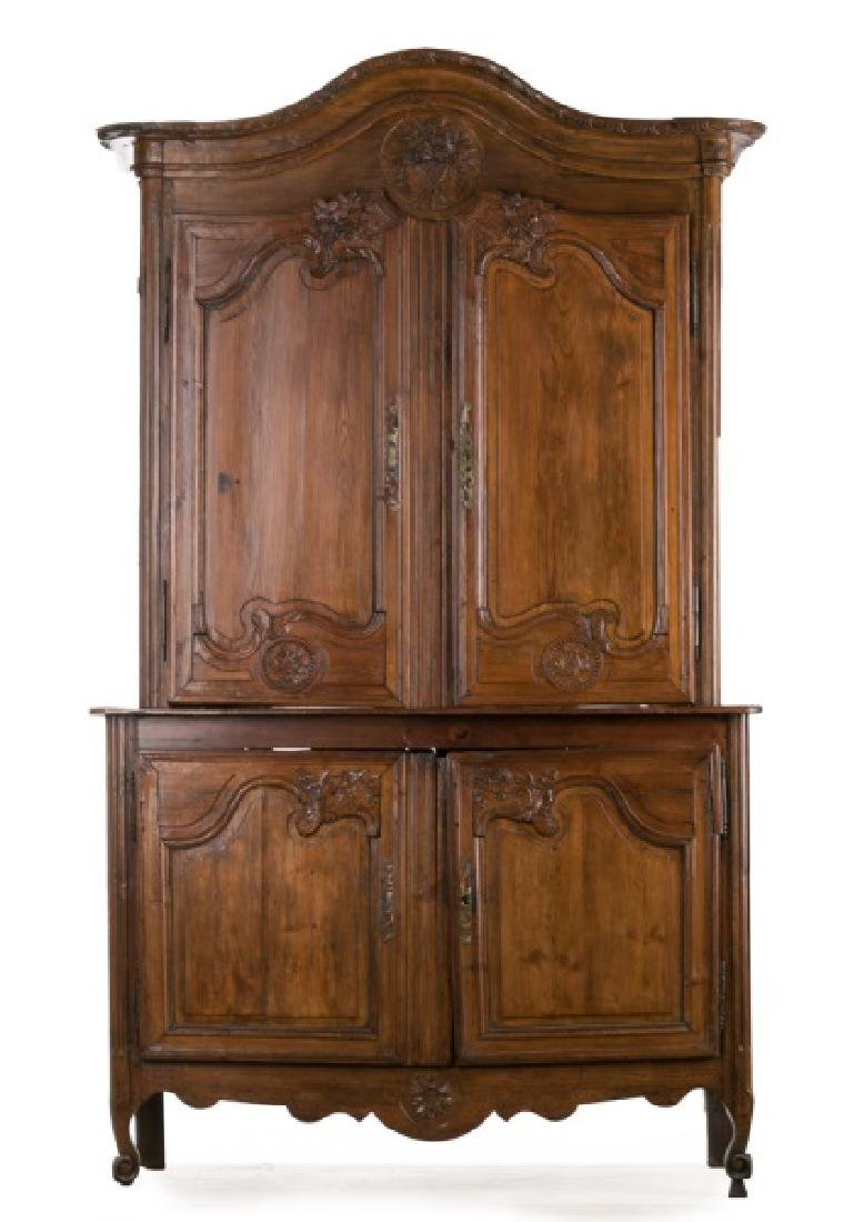 Early 19th C. French Provincial Pine Cupboard