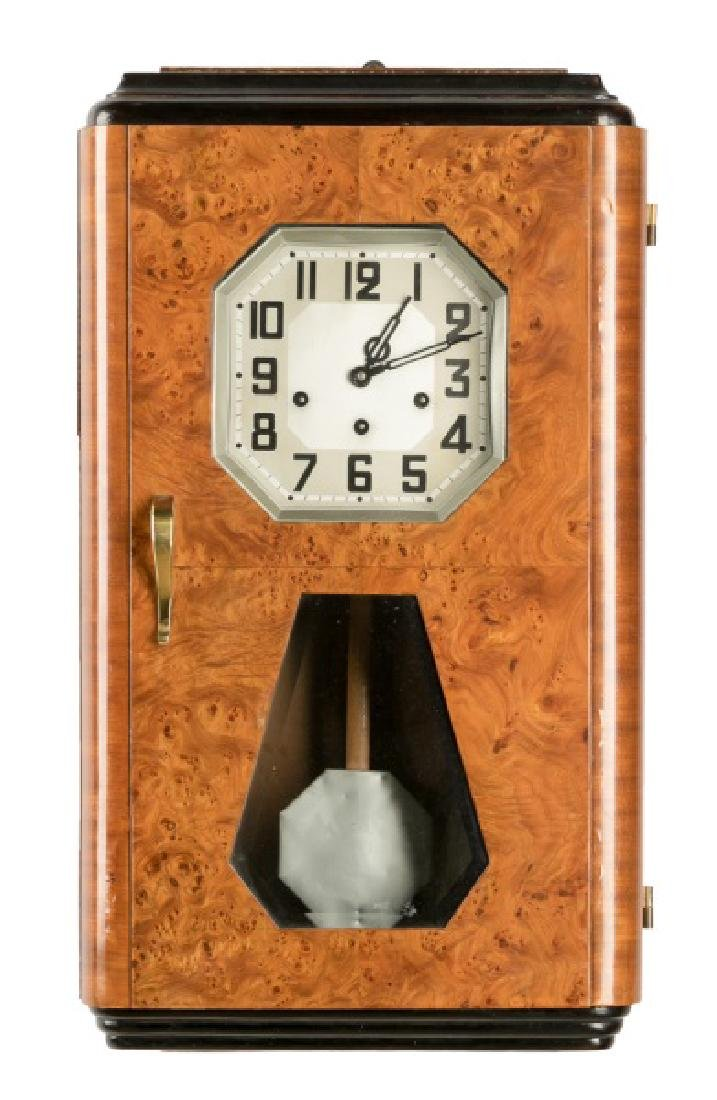 Art Deco Regulator Wall Clock