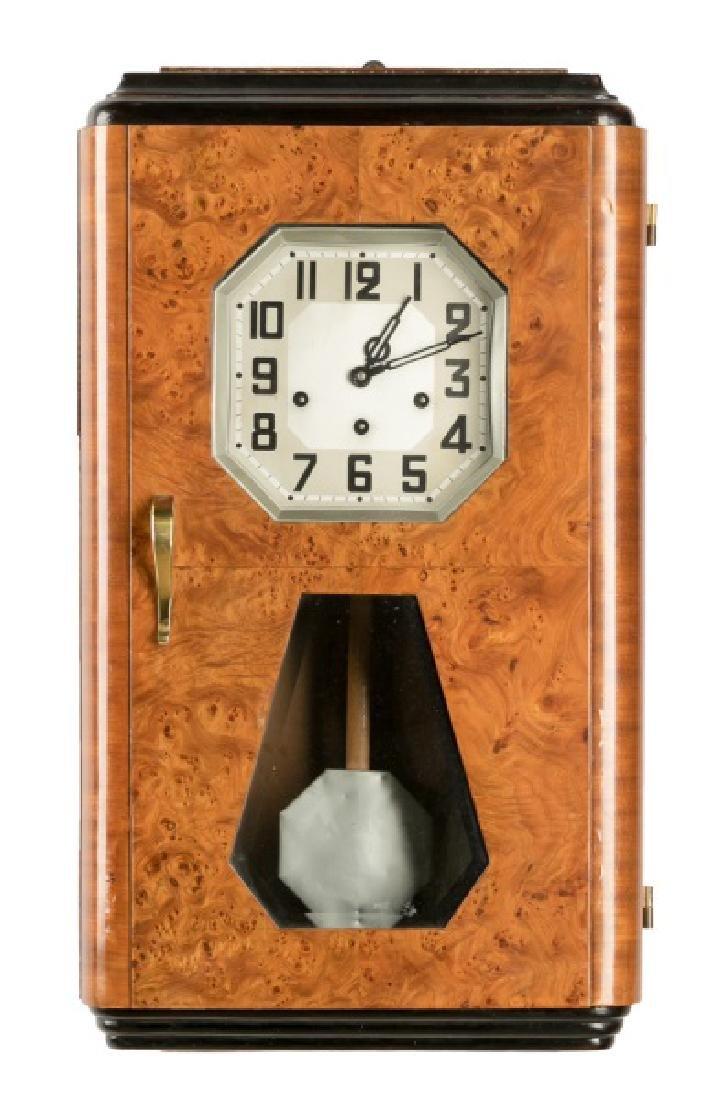 Art Deco Regulator Wall Clock