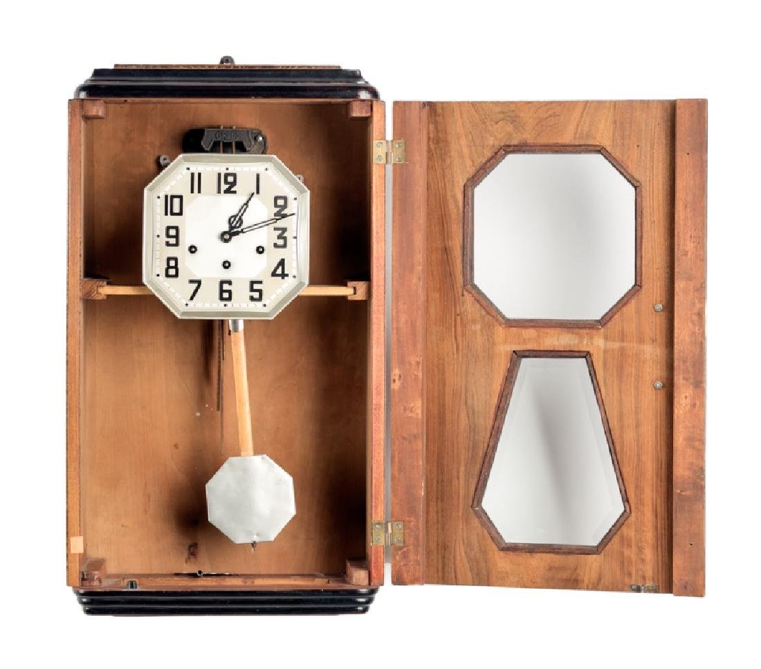 Art Deco Regulator Wall Clock - 2