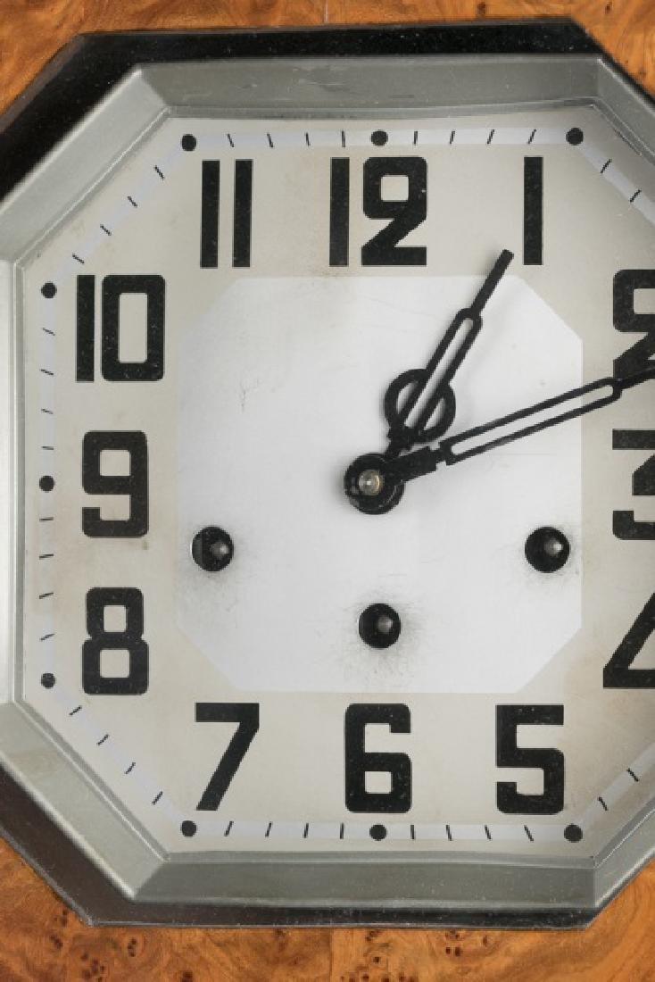 Art Deco Regulator Wall Clock - 4