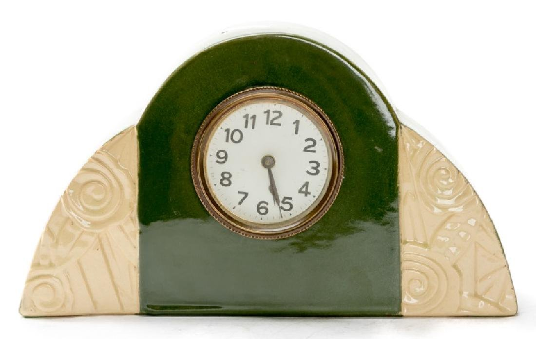Art Deco Ceramic Mantle Clock