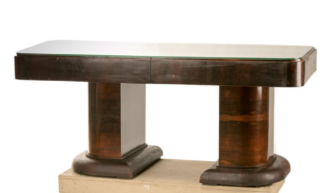 Art Deco Rosewood Double Pedestal Table
