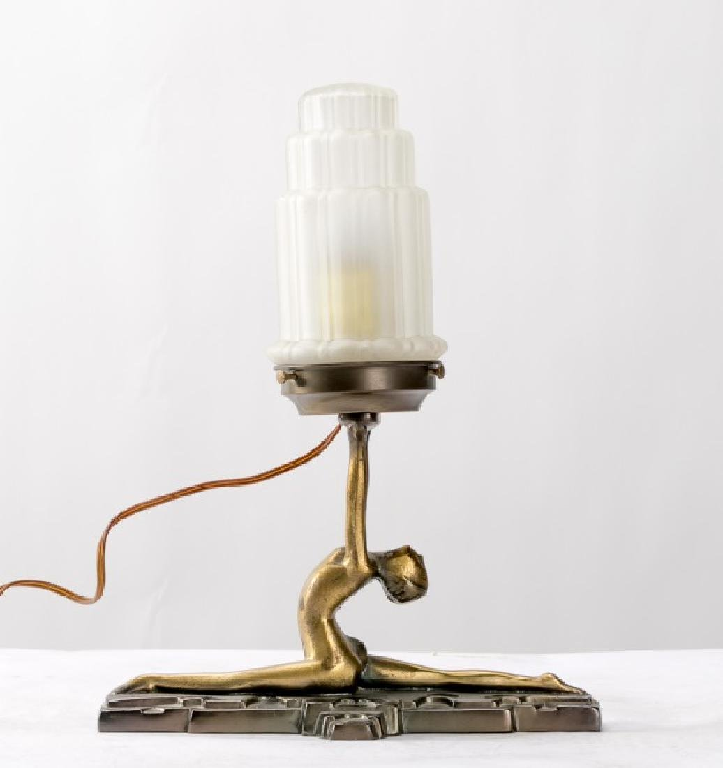 Art Deco Style Figural Lamp By Sarsaparilla