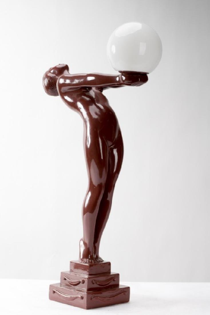 Art Deco Style Figural Lamp After Max Leverrier