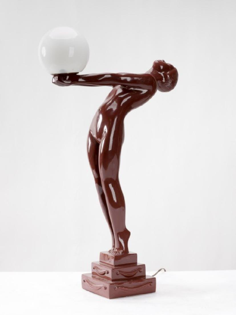 Art Deco Style Figural Lamp After Max Leverrier - 3