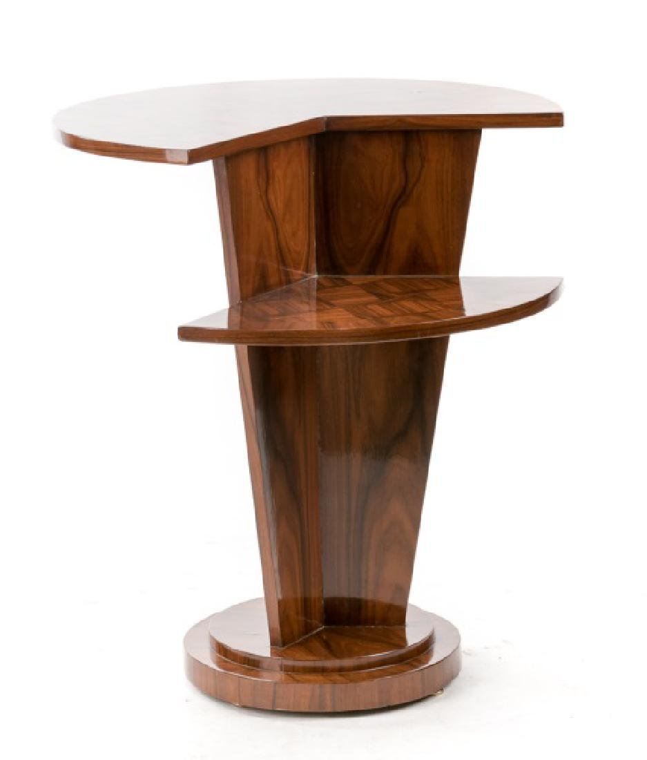 Art Deco Round Tapering Rosewood Side Table