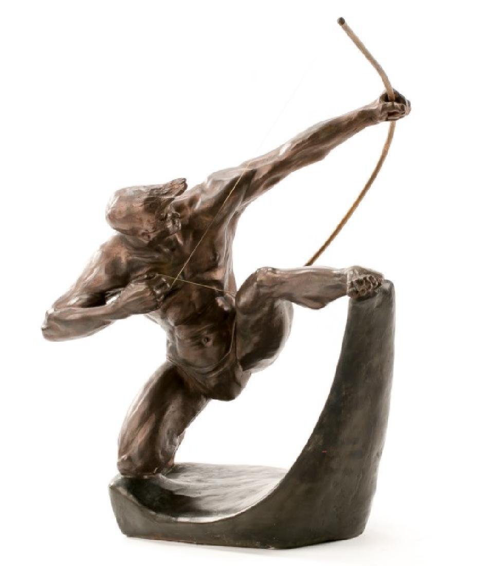 """Hercules the Archer"" Art Deco Plaster Sculpture"
