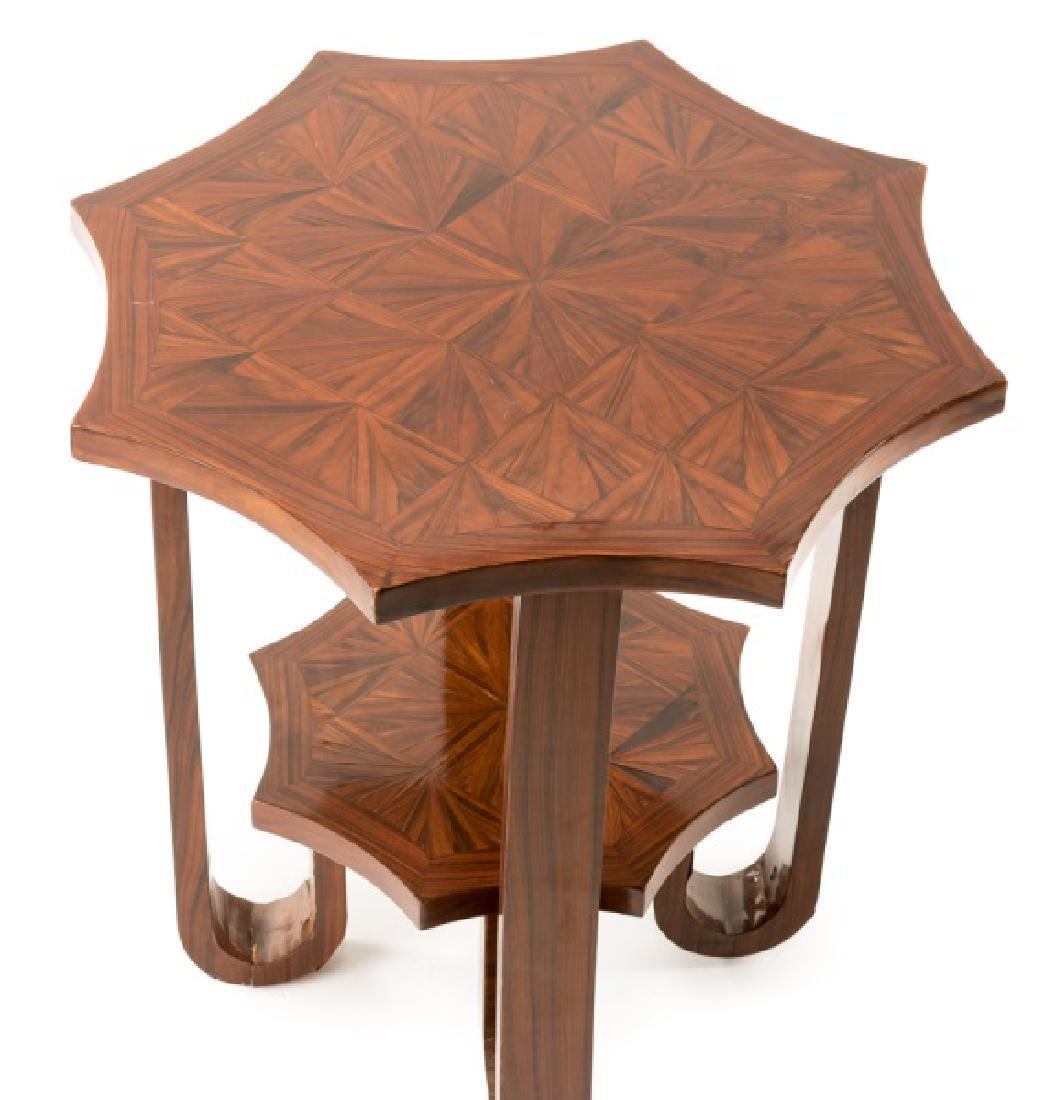 Art Deco Two Tier Side Table with Shaped Star Top