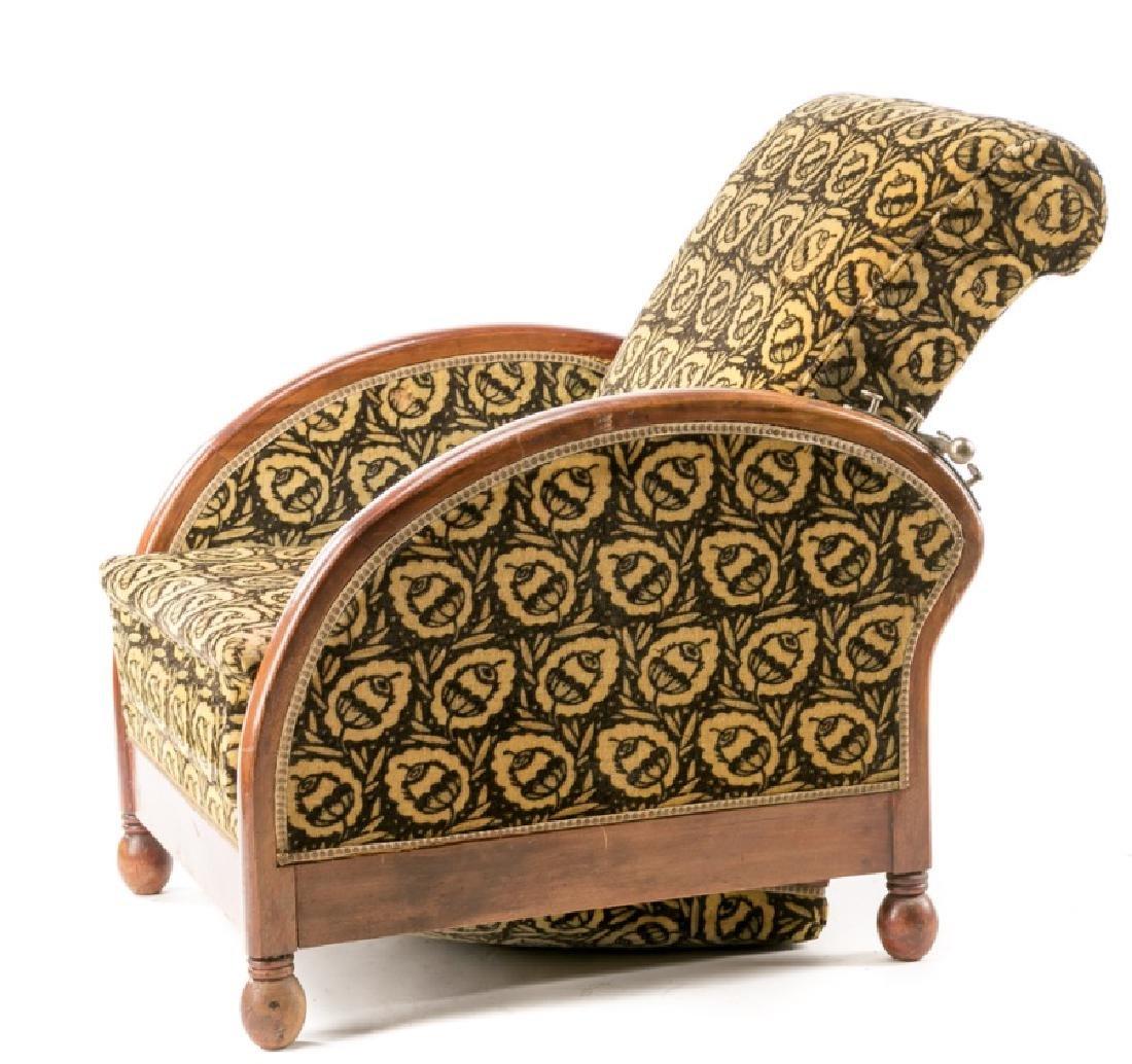 French Art Deco Recliner w/ Original Mohair Fabric - 2