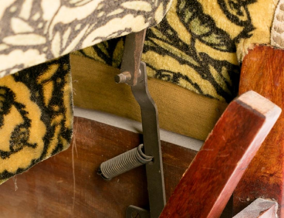 French Art Deco Recliner w/ Original Mohair Fabric - 4