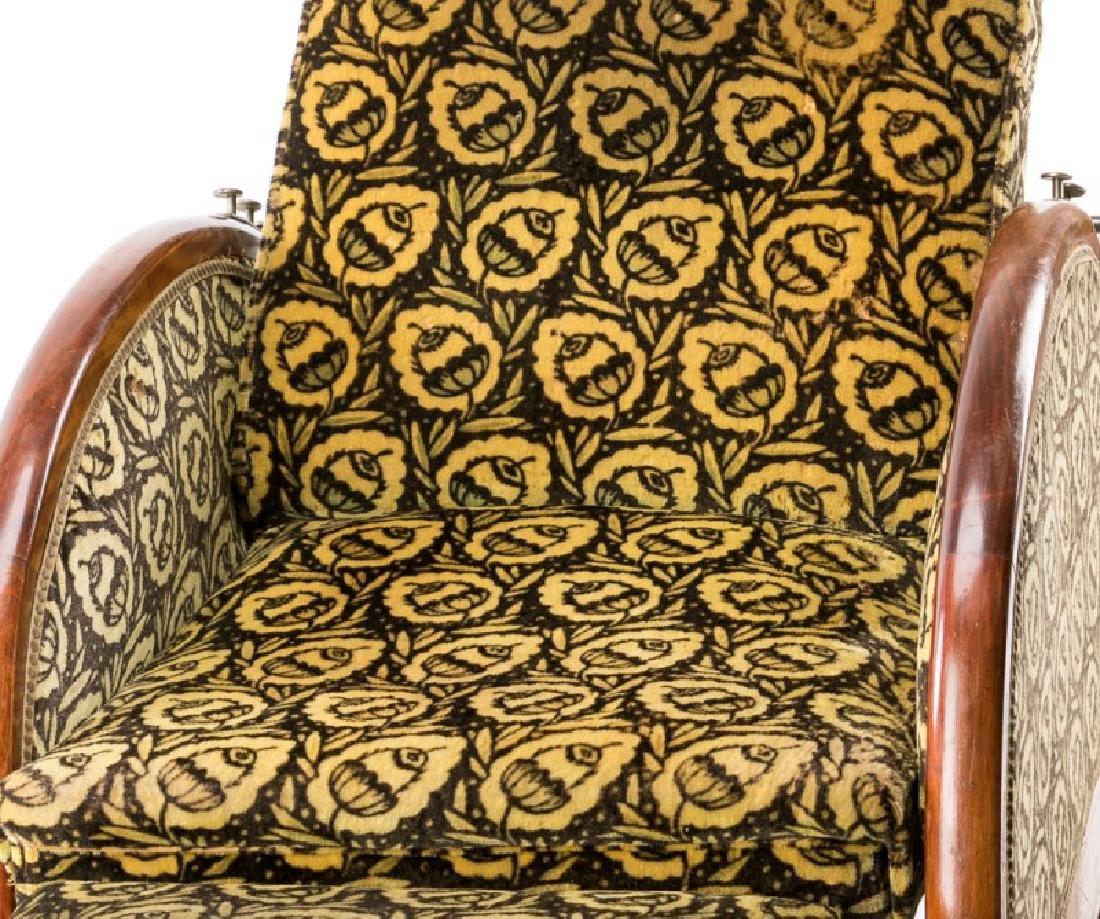 French Art Deco Recliner w/ Original Mohair Fabric - 6