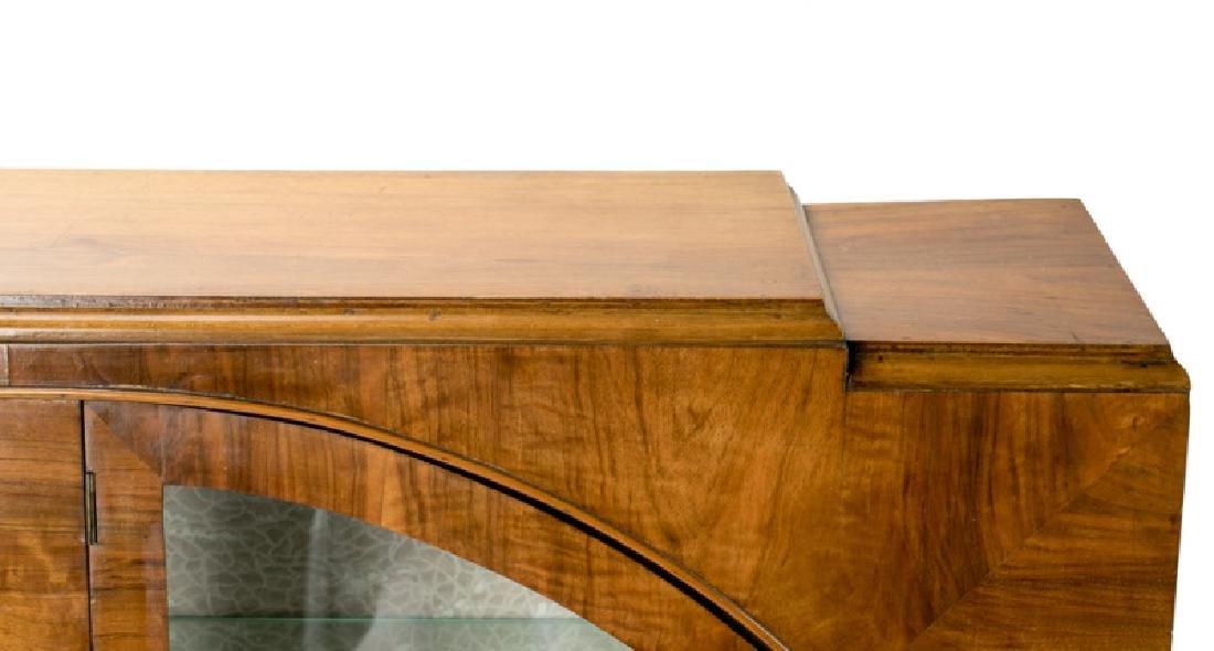 Art Deco Walnut Two Door Display Cabinet - 6
