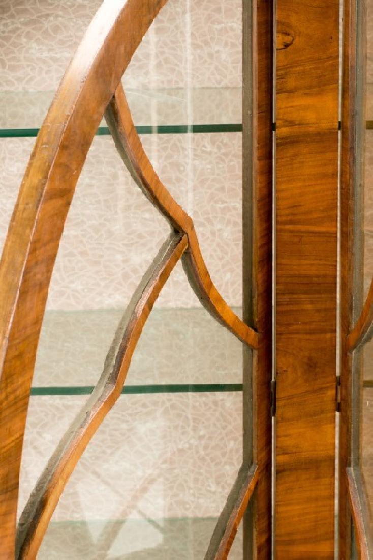 Art Deco Walnut Two Door Display Cabinet - 7