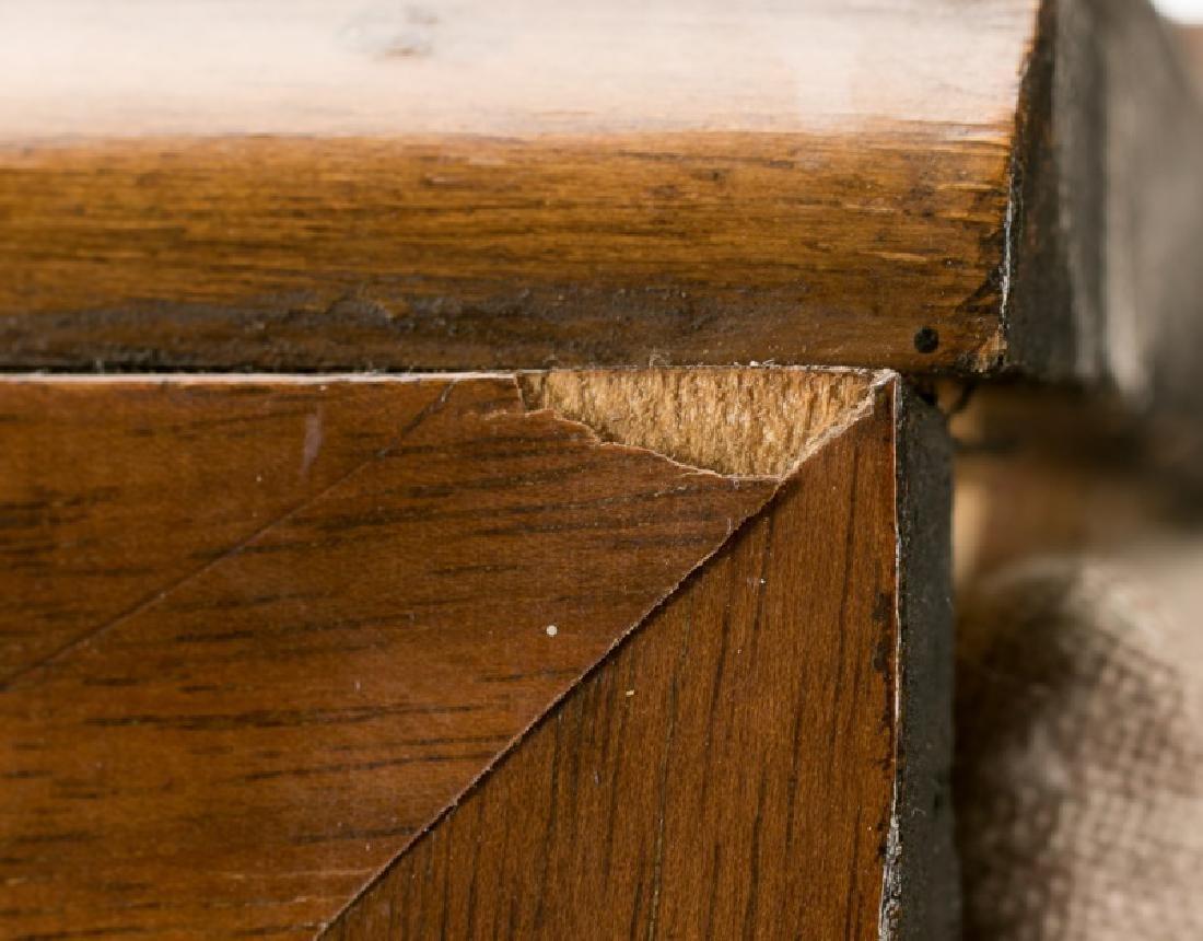 Art Deco Walnut Two Door Display Cabinet - 9