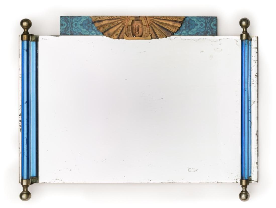 Art Deco Wall Mirror with Figural Mask