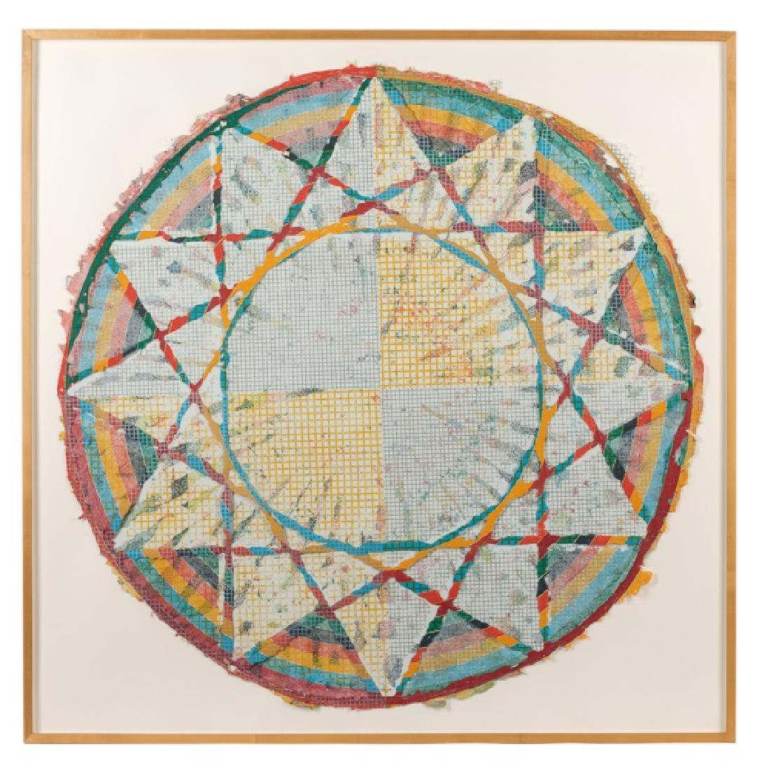 "Alan Shields ""Equatorial Route"", 52"" Square"