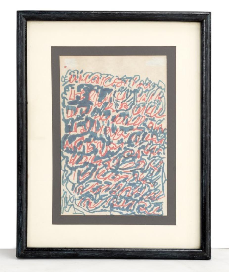"J.B. Murry ""Spirit Writing"", Felt Marker on Paper"