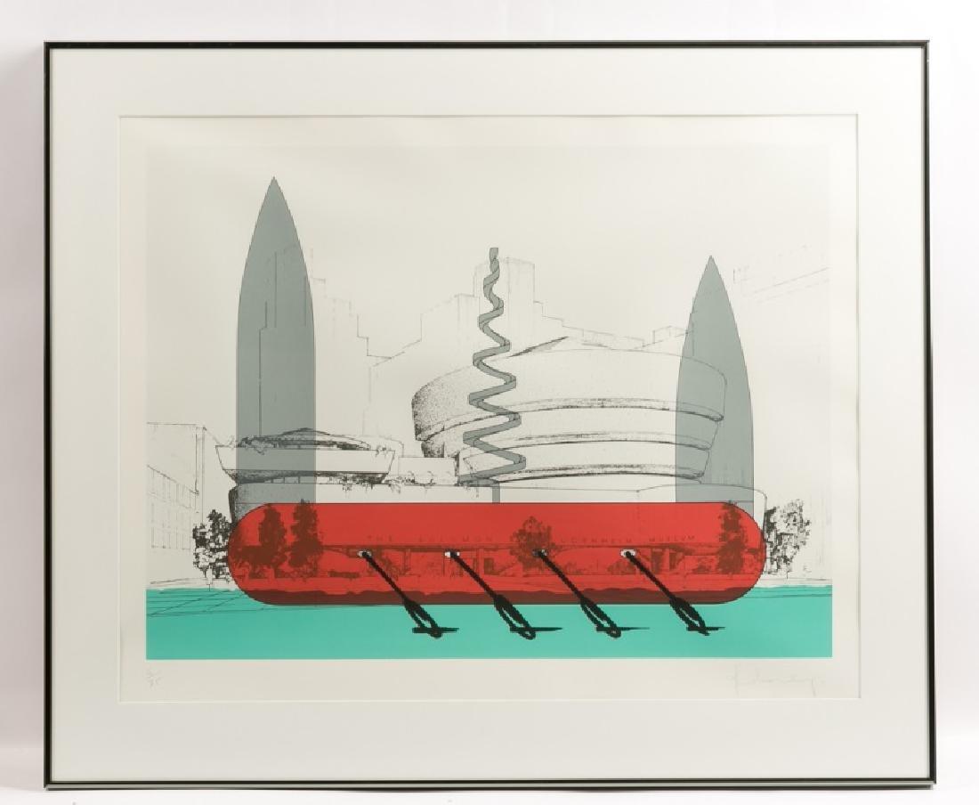 "Claes Oldenburg ""Guggenheim Museum"" Screenprint"
