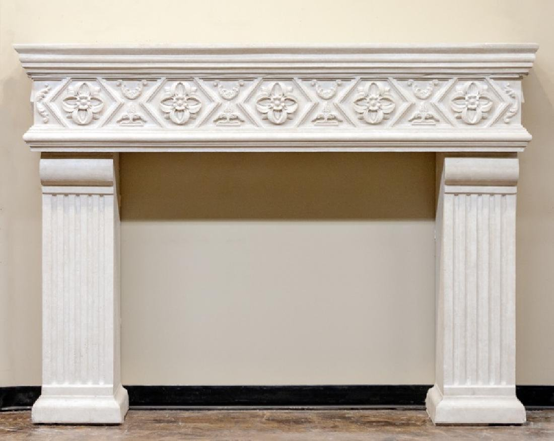 Francois & Co. Monumental Stone Mantel Surround