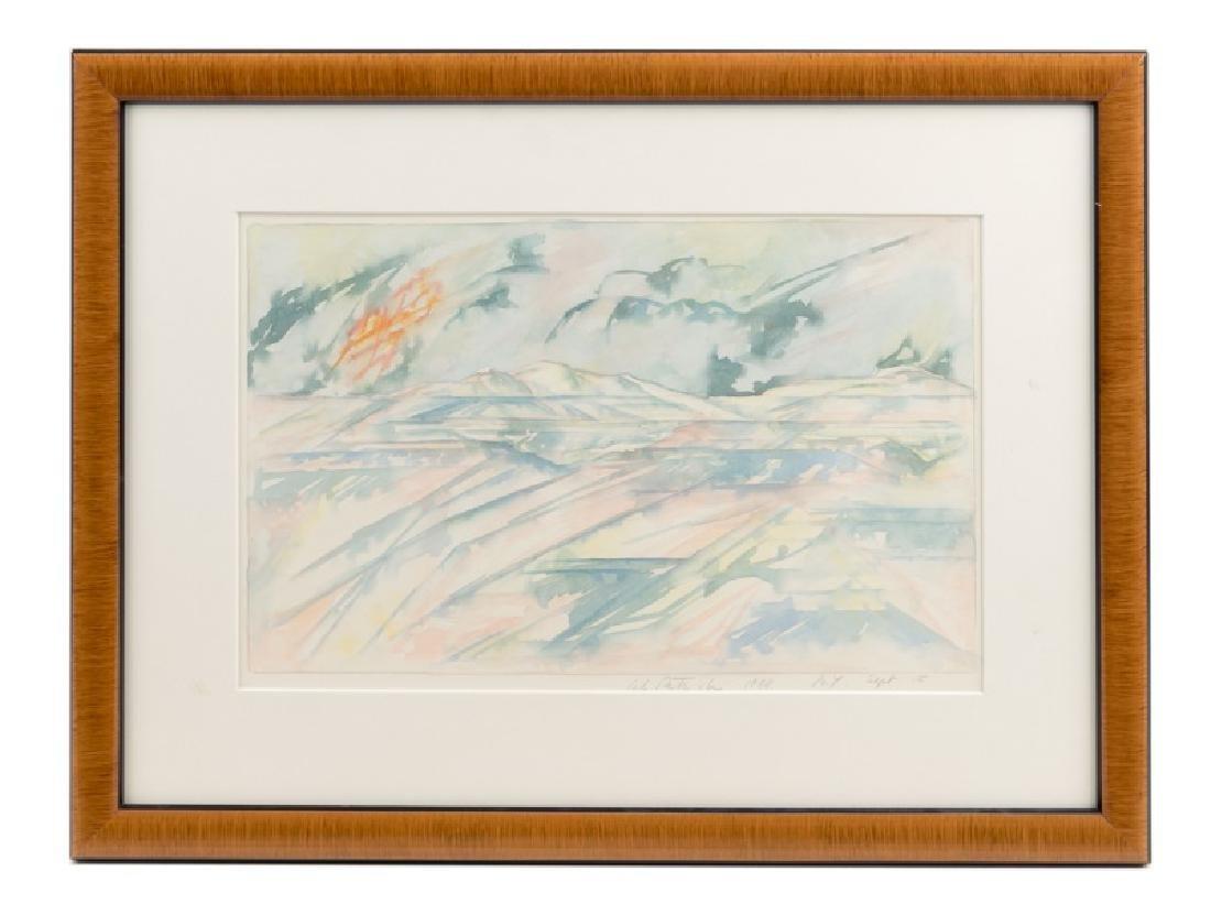 1988 Carlo Battaglia Landscape Watercolor, Signed