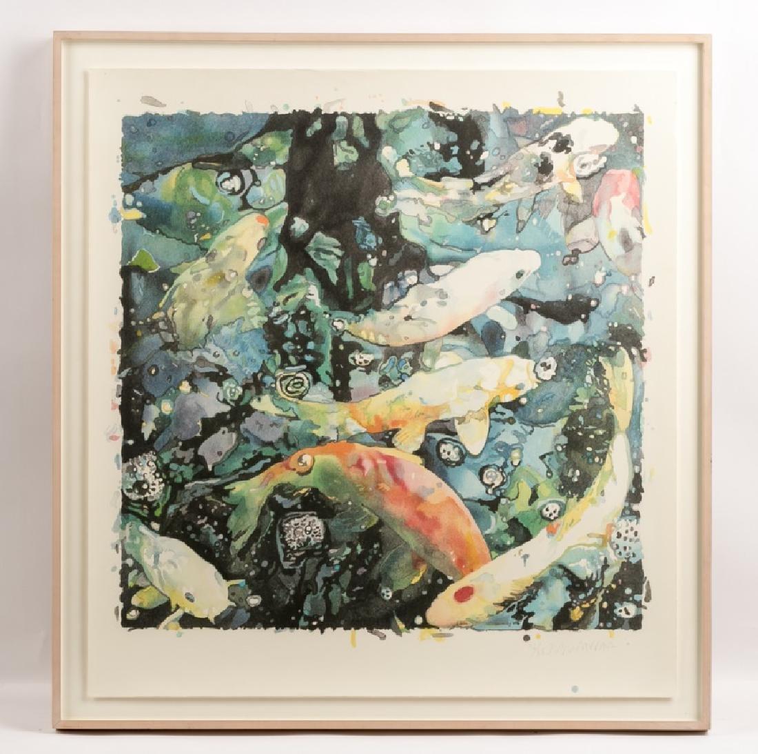 "1986 Lithograph, Joseph Raffael ""New Beginnings"""