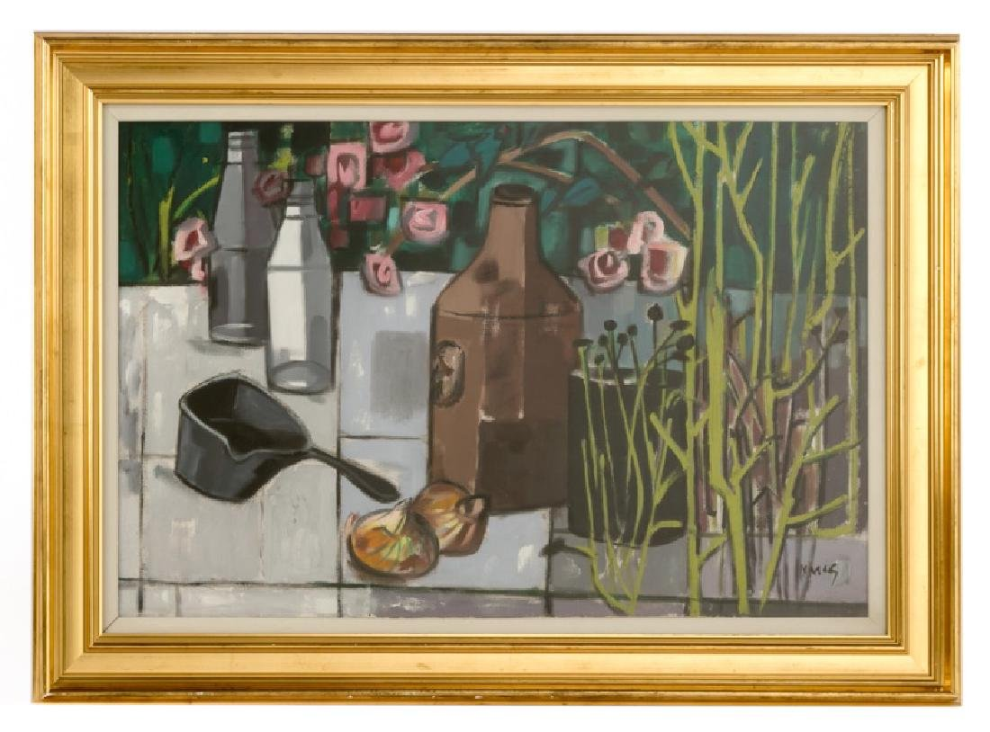 """Norah MacGuinness """"The Terrace Wall"""" Signed Oil"""