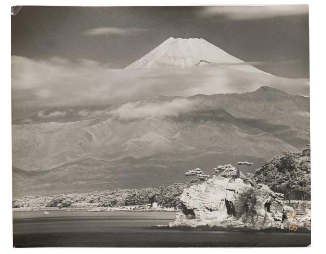 Koyo Okada, Signed 1950s Photograph of Mount Fuji