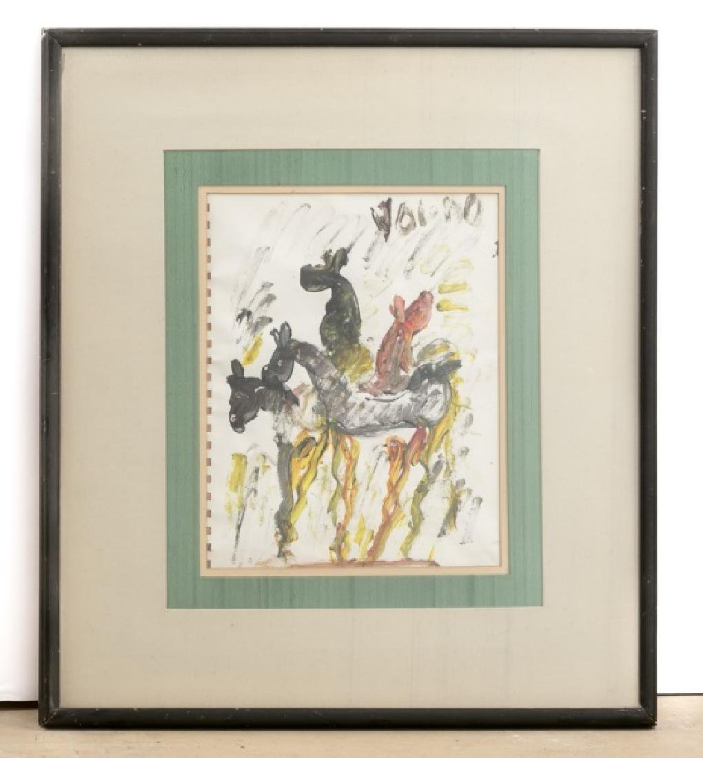 Purvis Young, Signed Outsider Painting on Paper